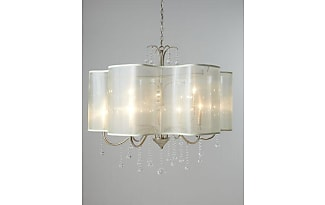 Chandeliers by john richard now shop up to 25 stylight john richard quatrefoil 9 light shaded chandelier mozeypictures Gallery