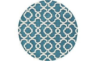 Kaleen Rugs Revolution Collection REV03 91 Teal Hand Tufted 119 ROUND Rug