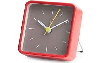 Marvelous Kikkerland Square Alarm Clock, Red Great Ideas