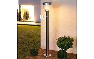 lampadaire solaire inox 9 led exterieur