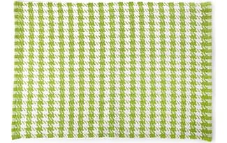 MacKenzie Childs Chartreuse Houndstooth Scatter Rug