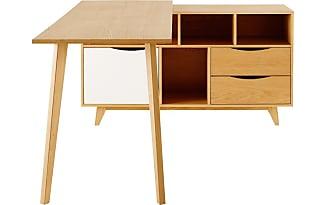 Bureau maisons du monde latest solid mango wood and metal writing