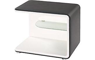 Cheap Modular Miare Nachttisch Lederimitat Schwarz Wei X With Nachttisch  Schwarz Wei Hochglanz