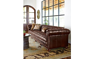 Old Hickory Tannery Executive 131.5L Chesterfield Sofa
