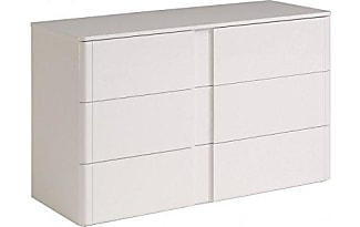 Parisot 3647CO3T Wesley High 3 Drawer Chest, Gloss White