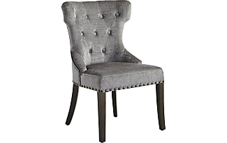 Pier 1 Imports Hourglass Crushed Velvet Rain Dining Chair