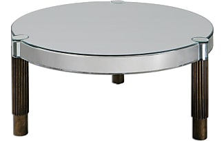 uttermost eleni round mirrored coffee table