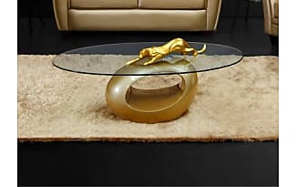 Vente Unique.ch Couchtisch Glas Pebble   Limited Edition   Gold