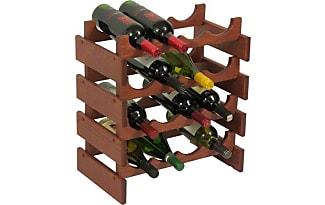 Wooden Mallet 16 Bottle Dakota Wine Rack, Mahogany