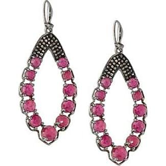 Bavna Moonstone & Glass Ruby Drop Earrings 9eH3ntj7