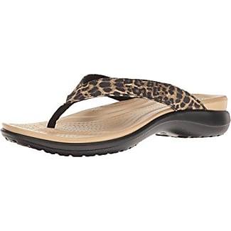 204012, Chanclas Mujer, Multicolor (Leopard), 42-43 EU Crocs