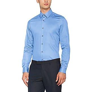 17 JSH-37Pierre2 10000994, Camisa de Oficina para Hombre, Negro (Black 001), 43 Joop