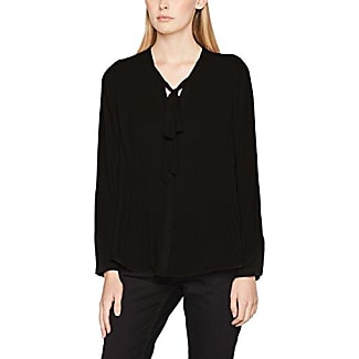 Only Onlsui L/s Ruffle Top Solid Wvn, Blusa para Mujer, Negro (Black Black), 34