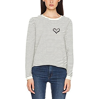 Only Onlamy L/s Short Stripe Knot Swt, Sudadera para Mujer, Multicolor (Cloud Dancer), 40 (Talla del Fabricante: Large)