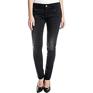 Femmes Jeans Noir Enduit Kairinatz 9187 Fuseau Horaire nPDIF