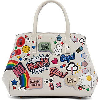 anya hindmarch offwhite small allover stickers ebury ii tote