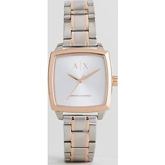 Armani Reloj cuadrado de pulsera de metal combinado AX5449 de Armani Exchange