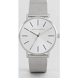 Armani Reloj de malla plateado AX5535 de Armani Exchange