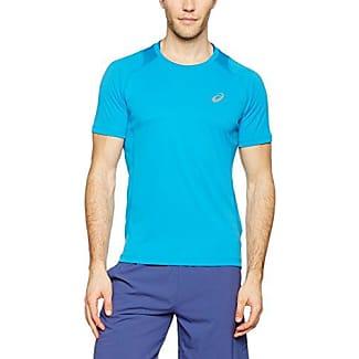 asics t shirt blu