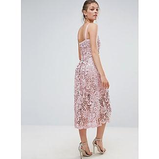 Body Frock Bodyfrock Heavy Lace Dress With Scalloped Hem Pink