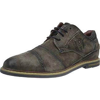 Bugatti Herren Leder Schuhe shoes Sneaker Schnurhalbschuhe grey grau