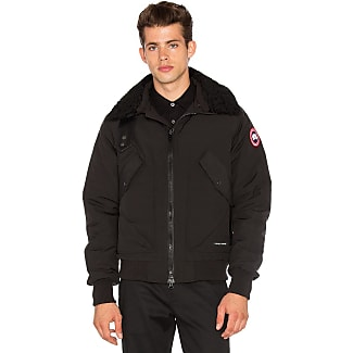Canada Goose Bromley Dyed Sheep Fur Collar Bomber in Black