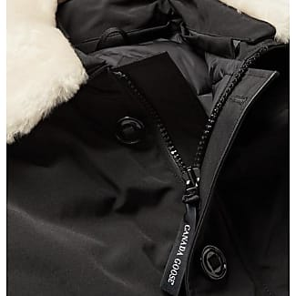 Canada Goose Foxe Shearling And Leather-trimmed Shell Down Bomber Jacket - Black