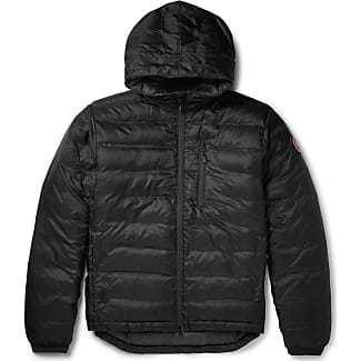 Canada Goose Lodge Packable Quilted Ripstop Shell Hooded Down Jacket - Black