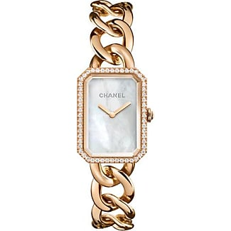 chanel watches for women. chanel premiÈre 18k beige gold chain watch, large size watches for women