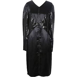 Chanel long sleeve black dress