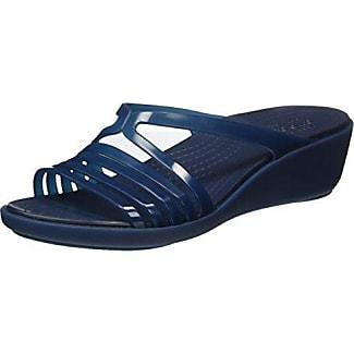 Crocs Sloanegrphsld, Chancletas para Mujer, Blu (Blue/Floral), 38-39 EU