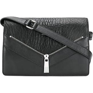 zip detail shoulder bag - Black Diesel