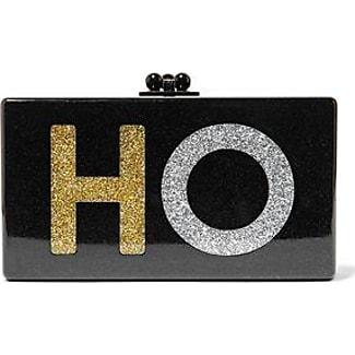 edie parker edie parker woman jean ho glittered acrylic box clutch black size