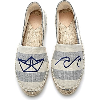 Fab By Fabienne Chapot Shoes Espadrilles Canvas Embroidery Blue