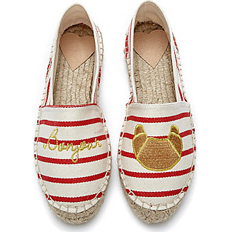 Fab By Fabienne Chapot Shoes Espadrilles Canvas Embroidery Red