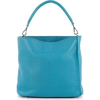 Fendi Blue Leather Purse