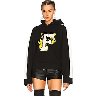 puma yellow hoodie. fenty puma by rihanna hooded panel sweatshirt in black yellow hoodie