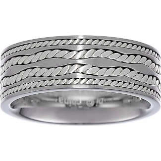 fine jewelry mens stainless steel ring with sterling silver inlay