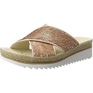 Gabor Shoes 63.703, Chanclas Mujer, Plateado (Platino 63), 39 EU