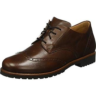 Ganter Sensitiv Inge, Weite I - Zapatos De Cordones para mujer, color grau (schwarz 0100), talla 37.5
