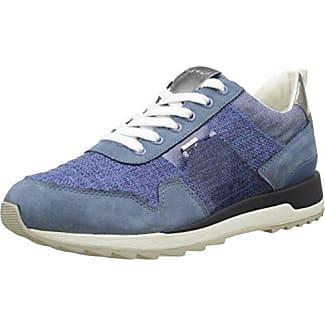 Geox D Happy A, Zapatillas Mujer, Azul (Denimc4008), 35 EU
