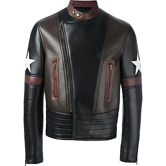 Givenchy Jaqueta biker com patch de estrela - Preto