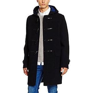 Gloverall Morris Duffle - Manteau - Duffle coat - Manches Longues - Homme - Noir (Black) - X-Large (Taille fabricant: 44)
