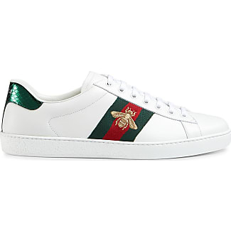 gucci shoes for men low tops. gucci ace embroidered low-top sneaker - white shoes for men low tops
