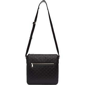 black gucci bags. gucci black signature messenger bag bags a