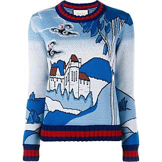 gucci jumper. gucci castle knit jumper - blue o