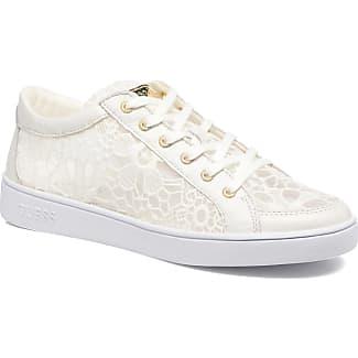 Guess Sneakers glinna en dentelle Blanc Femme Chaussures de