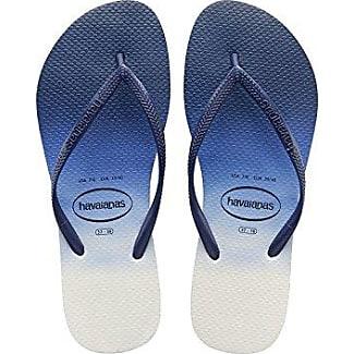 Havaianas Damen Flip Flops Top Tiras Grösse 35/36 EU (33/34 Brazilian) Indigo Blau Zehentrenner für Frauen