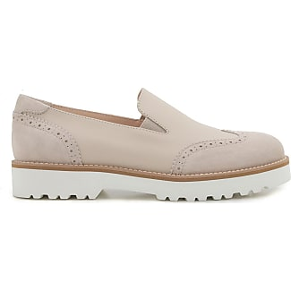 Loafers for Women On Sale in Outlet, White, Leather, 2017, 3.5 4 Hogan