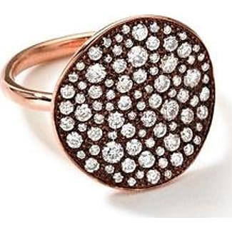 ippolita 18k rose gold stardust flower ring with diamonds 123 ct